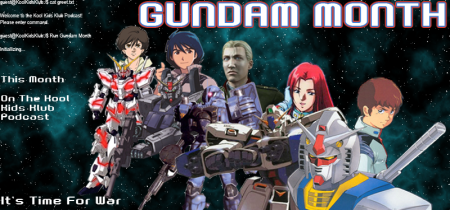 It's space because that where Gundams are born
